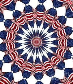 American Flag Kaleidoscope Abstract 4 by Rose Santuci-Sofranko Spiral Art, Interiores Design, Abstract Print, 4th Of July Wreath, Fireworks, American Flag, Art Ideas, Quilting, Greeting Cards