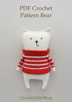 Amigurumi bear Crochet pattern Digital Download pdf
