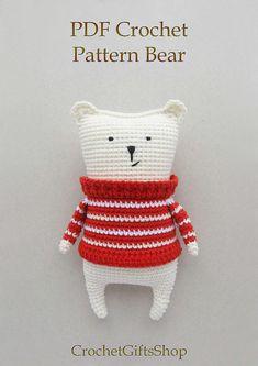 Amigurumi bear Crochet pattern Digital Download pdf