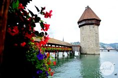 The Kappelbrücke in Luzern was build in 1365 and is the oldest wooden bridge in Europe. #swissspots