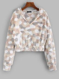 ZAFUL Fuzzy Patchwork Hoodie USD Best Picture For Women Hoodies cute For Your Taste You are looking for something, and it is going to tell you exactly what you are looking for, and you didn't fi Hoodie Outfit, Hoodie Dress, Money Clothing, Vestidos Plus Size, Plus Size Swimwear, Types Of Sleeves, Short Sleeves, Long Hoodie, Ugly Sweater