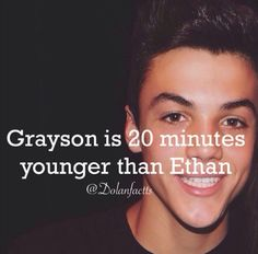I thought Grayson was older!!