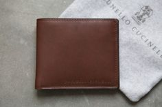 Brunello Cucinelli calf leather wallet