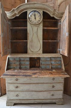 Lovely Antique Cabinet with Lots Of Small Drawers