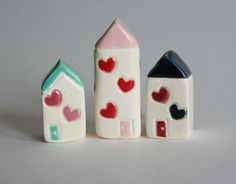Little Clay Houses by thelittlereddoor