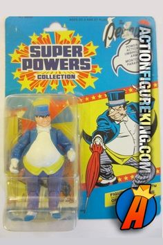 Vintage Kenner Super Powers 4.5-inch PENGUIN action figure. #kenner #superpowers #justiceleague #dccomics #penguin #batman Visit our website for full line of KENNER collectibles and figures including pricing and availability.
