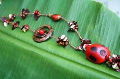 tagua nut adjustable macrame necklace by lovingElida on Etsy, $38.00