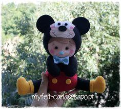 Baby Mickey em feltro!