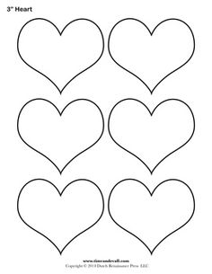 Printable Heart Shapes  Tiny Small  Medium Outlines  Heart