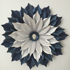 """#backdrop #paperart #paperflower #decoration #flower #silver #royalblue #inlove #backdropsbyanna #2'x2'"""