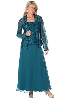 Roamans Women's Plus Size Beaded Lace Jacket Dress (Royal Teal,18 W) Roamans http://www.amazon.com/dp/B00KHVJCFG/ref=cm_sw_r_pi_dp_nTOtub1H2CA3B