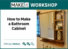 How to make a Bathroom Cabinet (R350)