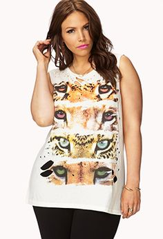 Wild Muscle Tee | FOREVER21 PLUS - 2074703872 $15.80