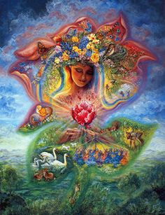 """Creation of Spring"" par Josephine Wall"