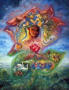"""Creation of Spring"" par Josephine Wall"
