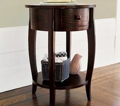 Sleigh Side Table | Pottery Barn Kids (next to the glider)