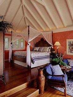 west indies style bedroom