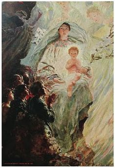 Behold thy Mother and Holy Queen!  Howard Pyle: Christmas Morn by Howard Pyle, 1903