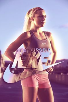 the ad is showing a girl and is saying to be your self no matter your looks just be yourself.