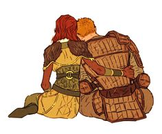 Alistair and his Dear Lady Warden :-)