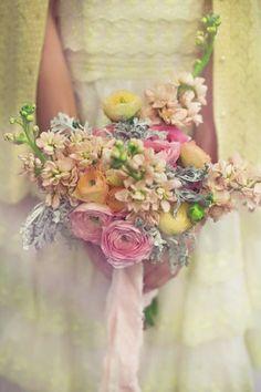Beautiful Powder coloured wedding bouquet