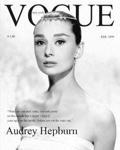 Audrey's Vogue, february 1959.