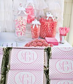 Pink Sweet Bridal Shower!  Eat, PINK, and be Married Bridal Shower: Click on link for more pictures