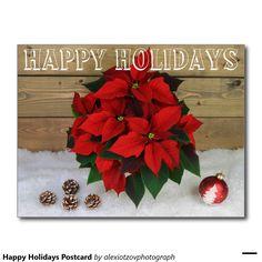 Happy Holidays Postcard #Post #Card my #design for #sale @Zazzle/alexiotzovphotograph #Christmas #holidays #winter #stockphotography