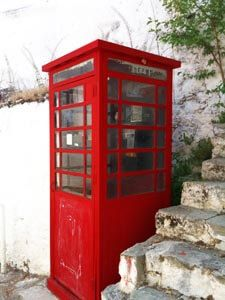 British Colonial heritage in North Cyprus. A red phone box in karmi village of Kyrenia North Cyprus. Cyprus Holiday, North Cyprus, British Colonial, Travel Guides, History, Phone, Box, Modern, Historia