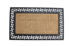 Geometric Border Entry Welcome Mat