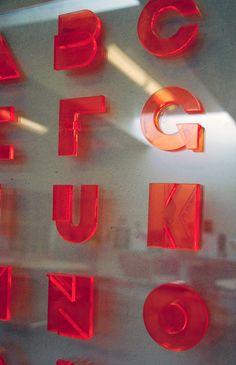 Christian Valencia's font Plexi – laser cut into plexiglas