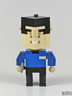 Pop culture icons in Lego by Cube Dude : SPOCK