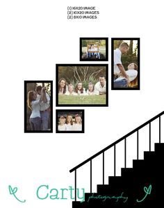 family wall collages Stairs