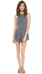 Free People Mixed Print Trapeze Romper