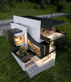 modern houses top building photo modern house design modern house exterior You can fix your home exterior design even if you do not have much money. In this article I am architecture house modern house plans modern architecture house styles Modern Minimalist House, Modern House Design, Home Design, Design Ideas, Minimalist Design, Design Blogs, Design Inspiration, Home Exterior Design, Small Modern Houses