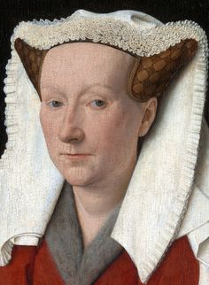 Jan van Eyck / Flamish cca - 1390 - 1441 /Margaret, wife of the Artist. NG London (close up detail)