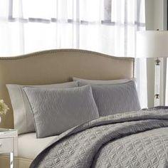 Magnifique 3 Piece Comforter Set in Grey