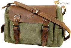 Vintage  Schultertasche 36cm Retro Leder Handtasche Tragetasche Shopper