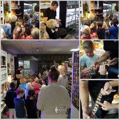 """Erg druk bij #Heevis vanochtend. Leerlingen van Basisschool Trudo waren op bezoek in de winkel. Guy trok de meeste aandacht met zijn #terrarium afdeling. Het is voor sommige kinderen toch wel een beetje """"eng"""" om een slang aan te raken (of te aaien)!"""