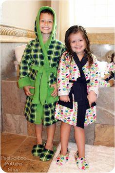 Comfy  Cozy Robe: Bath Robe Sewing Pattern by PeekabooPatternShop