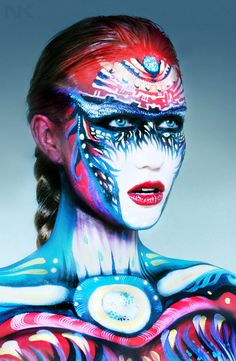 50 Mind-Blowing Body Painting Art works from World BodyPainting Festival - . - 50 Mind-Blowing Body Painting Art works from World BodyPainting Festival – - Body Painting Festival, World Bodypainting Festival, Woman Painting, Painting Art, Belly Painting, Painting Prints, Maquillage Halloween, Face Art, Woman Face