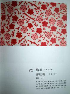 Cross Stitch of Japanese Kimono Designs by Saeko Endo