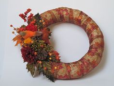 Fall Door Wreath by TrinasGiftShack on Etsy