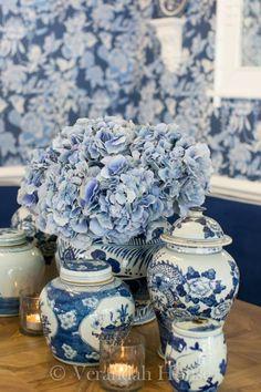 Verandah House Interiors - blue and white LOVE!