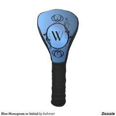 Blue Monogram or Initial Golf Head Cover