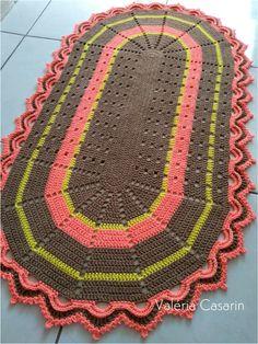 Crochet Table Mat, Crochet Mat, Crochet Rug Patterns, Crochet Mandala Pattern, Cute Crochet, Crochet Doilies, Crochet Stitches, Crochet Hooks, Crochet Home Decor