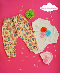 Baby Girl Set~ Owl Baby Pants~ Cotton Onesie~ Baby Cotton Cap~ Christmas gift~ newborn baby~ hospital outfit~ birthday gift~ baby flower cap by DoloresBabyBoutique on Etsy Baby Hospital Outfit, Newborn Baby Hospital, Baby Flower, Baby Pants, Baby Owls, Boho Shorts, Birthday Gifts, Onesies, Girl Outfits