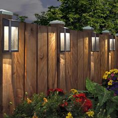Paradise Solar LED Post Lights - 4 Pack Garden/Home/Deck/Garage/Patio Lighting - RZHomestore