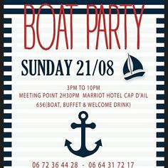 BOAT PARTY 21/08/16