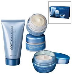 Anew Rejuvenate Skin Revitalizing System Trial/Travel Size by Avon. $23.99. Day Cream SPF25 .5 oz. Cleanser 1.7 oz. Night Cream .5 oz. 24 Hour Eye: SPF25 Sunscreen Day Cream  & Night Cream .33 oz EACH. A $58 value! The REJUVENATE skin care regimen...now in a 4-piece starter kit! Reduces the appearance of fine lines & wrinkles in just 3 days. The 3-step regimen includes: STEP 1 - Cleanse Deep cleanses and purifies. Innovative 2-in-1 gel formula deep-cleans and purifies, as i...